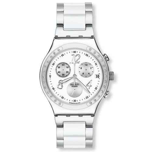 Reloj Swatch Dreamwhite de acero para mujer