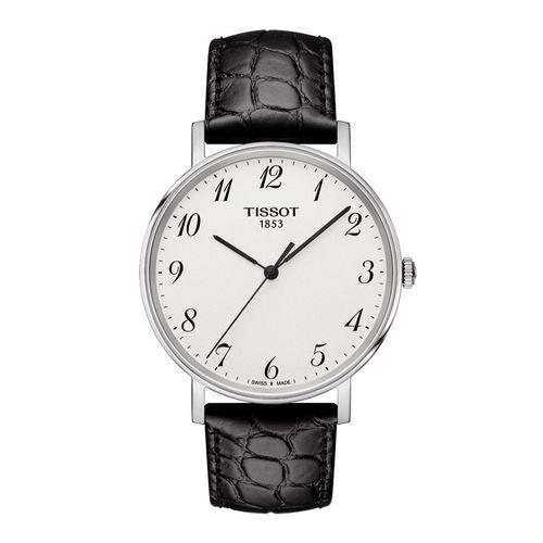 Reloj Tissot Everytime para Hombre de Cuero Negro 1094101603200
