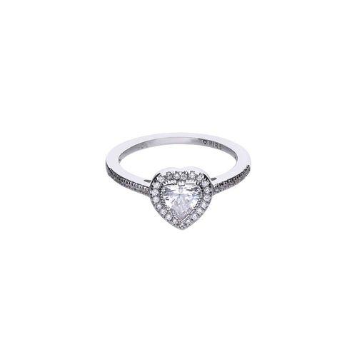 Anillo Diamonfire Modern Corazón de Plata con Zirconia Blanca 6114001082