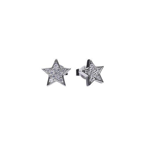 Pendientes de Plata con zirconia en forma de Estrella Diamonfire