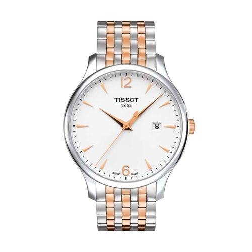 Reloj Tissot Tradition para Hombre de Acero Plateado y Rosé 0636102203701