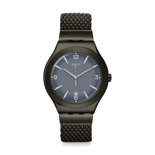 Reloj Swatch Mesh O'Light de Acero Negro