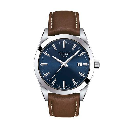 Reloj Tissot Gentleman para Hombre de Cuero Marrón 1274101604100