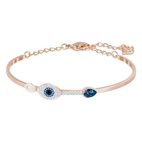 Brazalete Swarovski Symbolic Evil Eye, Azul - Talle M