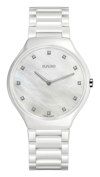 Reloj Rado R27957912 L True Thinline blanco