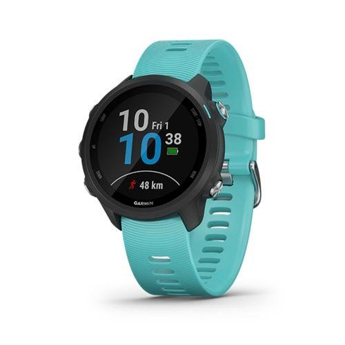 Smartwatch Garmin Forerunner 245 celeste y negro