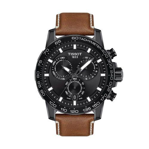Reloj Tissot Supersport Chrono para hombre de cuero marrón 1256173605101