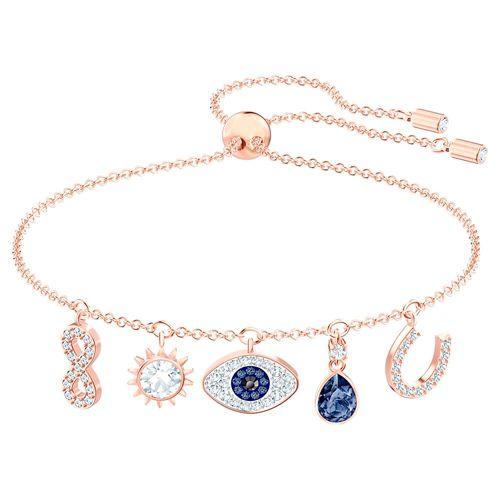 Pulsera Swarovski Symbol Charms Baño de Oro y Cristales SV5497668