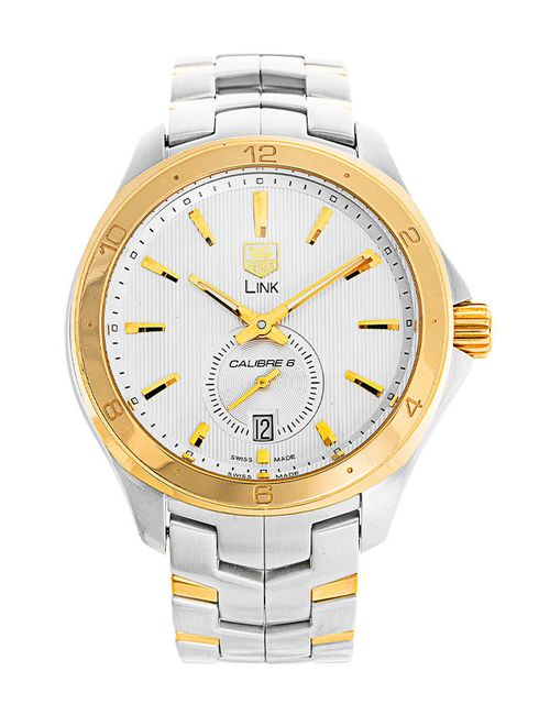 RELOJ TAG HEUER LINK SILVER DIAL GOLD