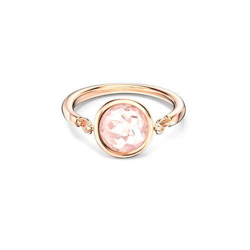 Anillo Swarovski Tahlia Baño de Oro Rosa y Cristal Rosa