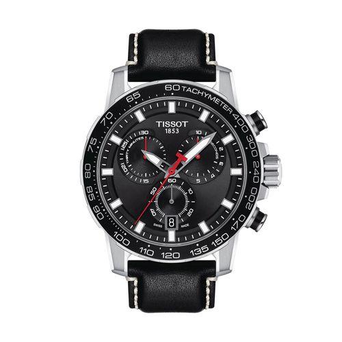 Reloj Tissot Supersport Chrono para hombre de cuero negro 1256171605100