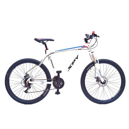 Bicicleta Spy Ridder 21v de rodado 26 tal18 blanco, azul y rojo