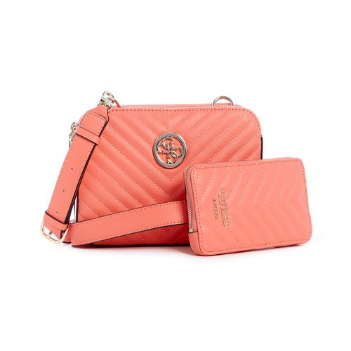 CARTERA GUESS STATUS CROSSBODY CORAL