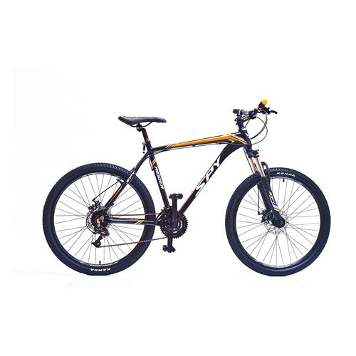 Bicicleta Spy Ridder 21v de rodado 26 tal18 negro y naranja