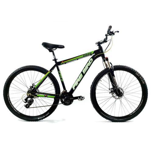 Bicicleta Firebird MTB aluminio rodado 29 negro y verde fluor