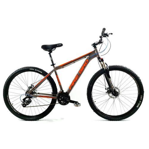 Bicicleta Firebird MTB Aluminio Rodado 29 Gris Brillante con Naranja