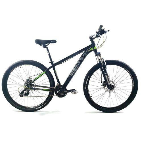 Bicicleta Firebird MTB Aluminio Rodado 29 Negro Gris Verde Fluo