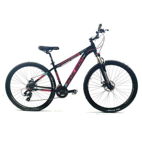 Bicicleta Firebird MTB aluminio rodado 29 negro y rosa