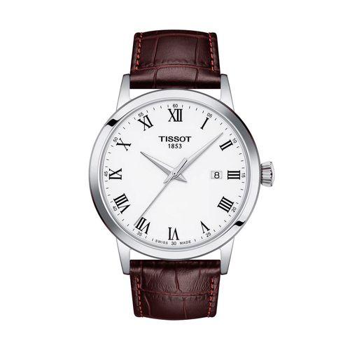 Reloj Tissot Classic Dream para Hombre de Cuero Marrón 1294101601300
