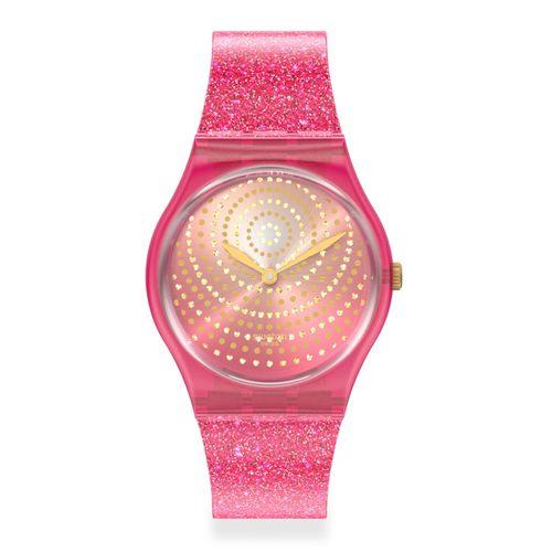Reloj Swatch Chrysanthemum para Mujer de Silicona Fucsia