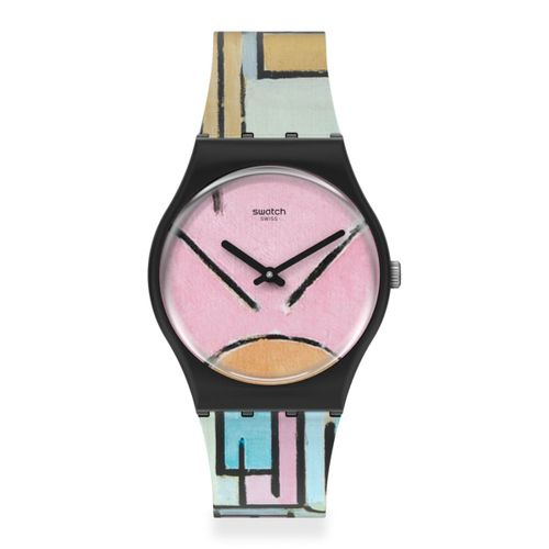 Reloj Swatch Composition In Oval With Color Planes 1 By Piet Mondrian The Watch