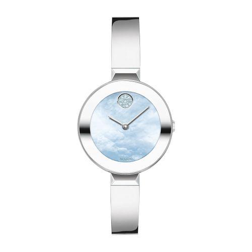 Reloj Movado Bold Bangle Plateado