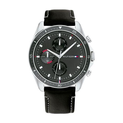 Reloj Tommy Hilfiger Parker para hombre de cuero negro 1791838