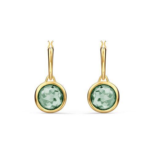 Aros Swarovski Tahlia Mino con cristal verde