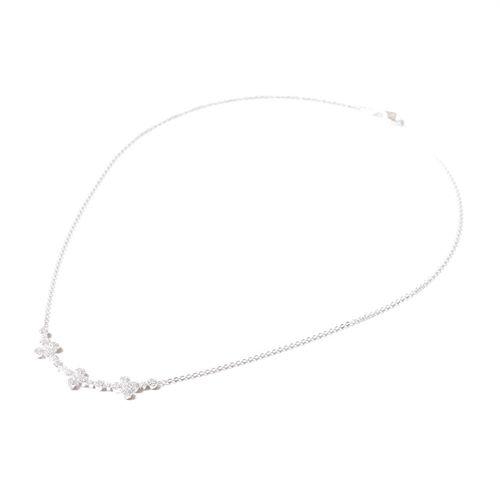 Collar Carmin Flora de Plata 925