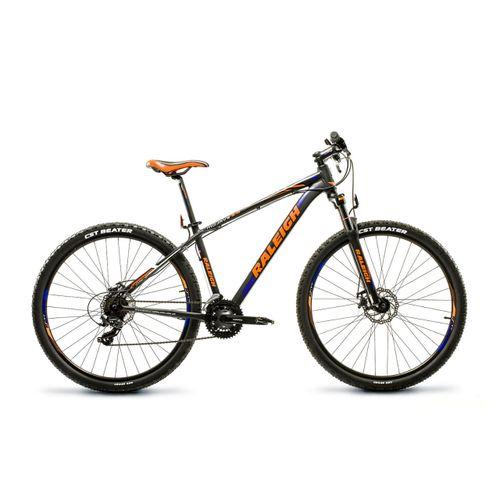 "Bicicleta Raleigh Rodado 29. 17"" Negro, azul y naranja"