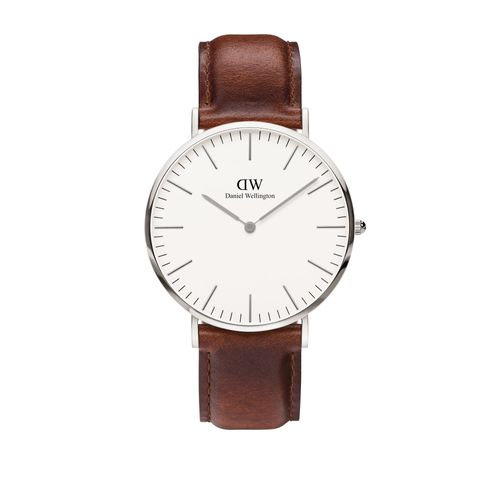 Reloj Daniel Wellington Classic St Mawes de cuero marrón