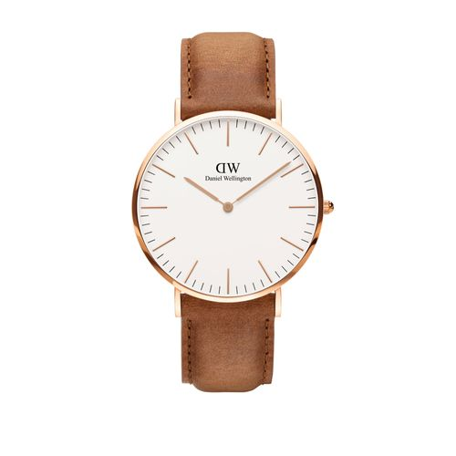 Reloj Daniel Wellington Classic Durham de cuero marrón