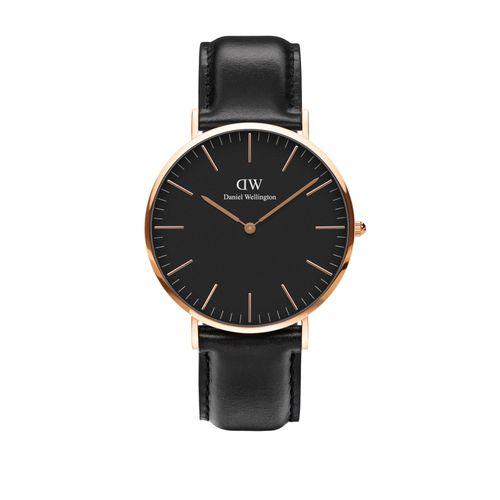 Reloj Daniel Wellington Classic Sheffiel de cuero negro