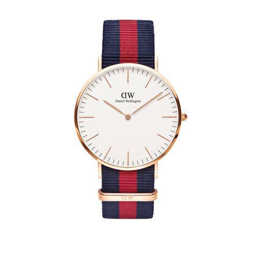 Reloj Daniel Wellington Classic Oxford con correa nato azul y rojo