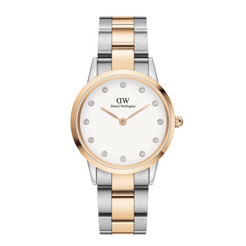 Reloj Daniel Wellington Iconic Lumine de acero plateado y rosé