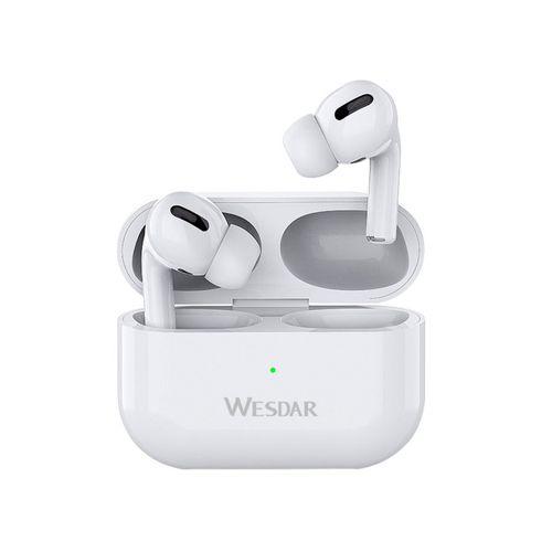 Auriculares Wesdar Tws inalámbricos Bluetooth Blanco