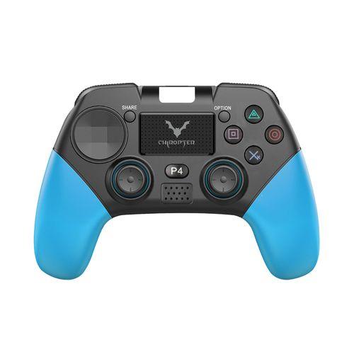 Joystick Wesdar inalámbrico PS4 negro y azul