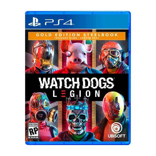 Juego PS4 Watch Dogs Legion Steelbook Gold Edition