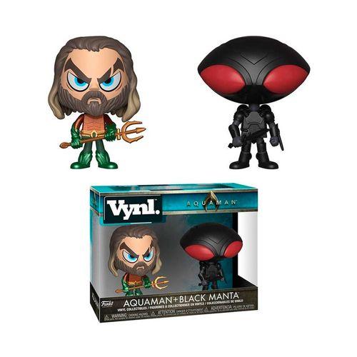 Funko Vynl. Aquaman + Blank Manta (2 Pack) - Aquaman, DC