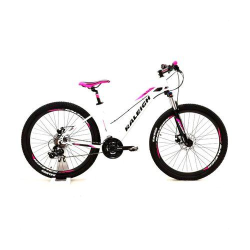 Bicicleta Raleigh Mojave 2.0 Rodado 27.5 Blanco y Rosa Talle 14