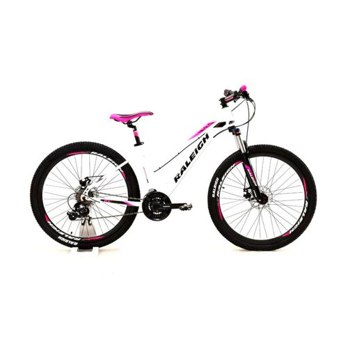Bicicleta Raleigh Mojave 2.0 Rodado 27.5 Blanco y Rosa Talle 18