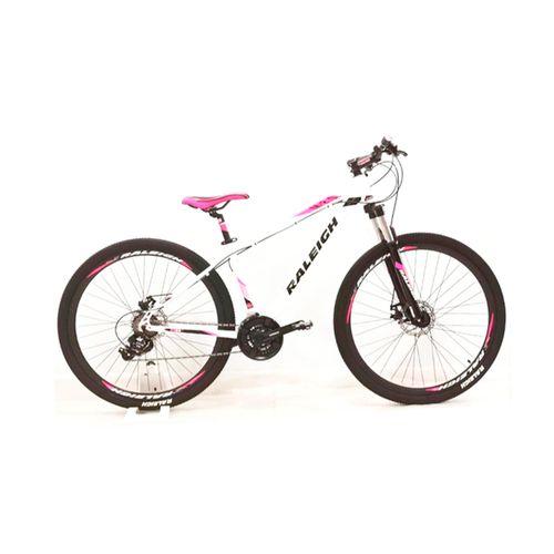 Bicicleta Raleigh Mojave 2.0 Rodado 29 Blanco y Rosa Talle 15