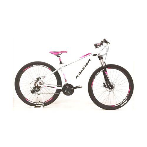 Bicicleta Raleigh Mojave 2.0 Rodado 29 Blanco y Rosa Talle 16.5