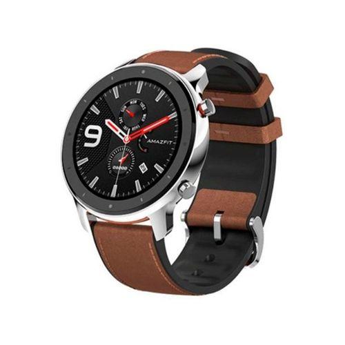 Smartwatch Xiaomi - Amazfit GTR 47 mm de cuero marrón y acero