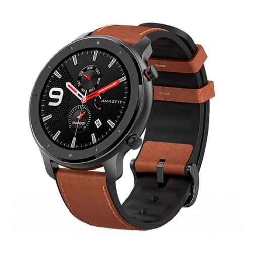 Smartwatch Xiaomi - Amazfit GTR 47 mm de cuero marrón y aluminio