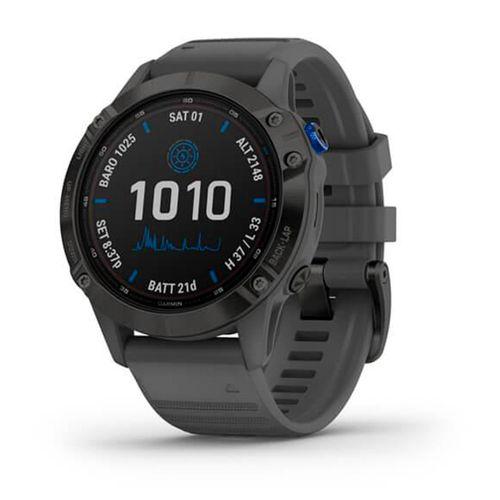 Smartwatch Garmin Fenix 6 Pro Solar negro y gris