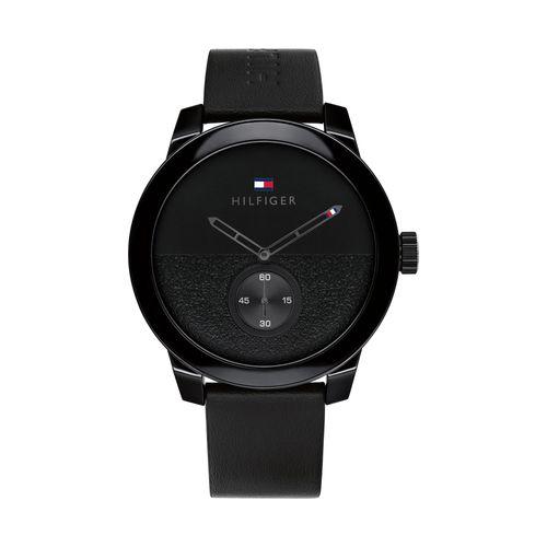 Reloj Tommy Hilfiger Denim para hombre de cuero negro 1791800