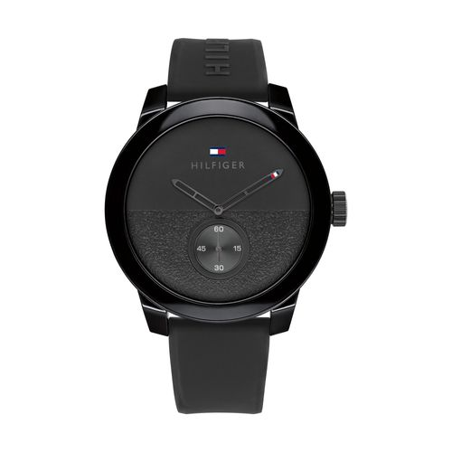 Reloj Tommy Hilfiger Denim para hombre deportivo de silicona gris 1791804