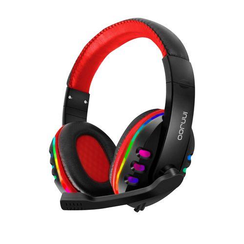 Auriculares Innjoo Gaming Negro y Rojo