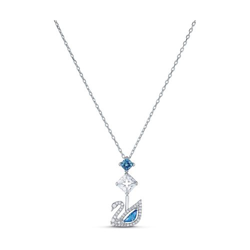 Collar Swarovski Dazzling Swan con cristales azules
